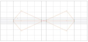 Figure 6. Meshing of the biconical antennas.