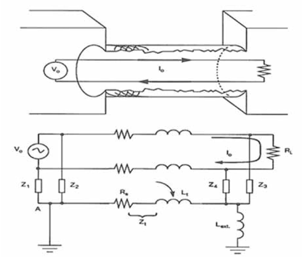 Differential Transfer Impedance Of Shielded Twisted Pairs Figure Antenna Matching Circuit 6 Stp Equivalent For Radiated Emission Reciprocal To Susceptibility Case