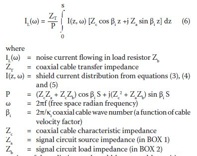 Using A Transmission Line Model To Analyze Shield Current