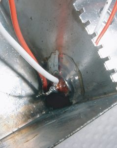 Figure 3. Example of a Y capacitor failure in shielded EMI filter.