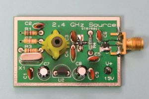 Figure 4 – The AMSAT-UK 2.4 GHz comb generator kit costs about $35 and produces useful harmonics to 6 GHz.