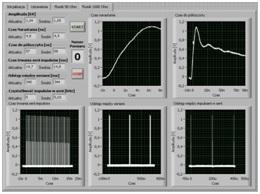 Figure 10. Front panel of burst generator verification software.