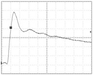 Figure 3. Waveform of a real single burst pulse.