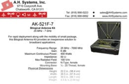 Free PDF Download – AK-521F-7 Bilogical Antenna Kit – Your Inexpensive Solution to Broadband Applications