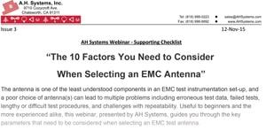 EMC Antenna Checklist