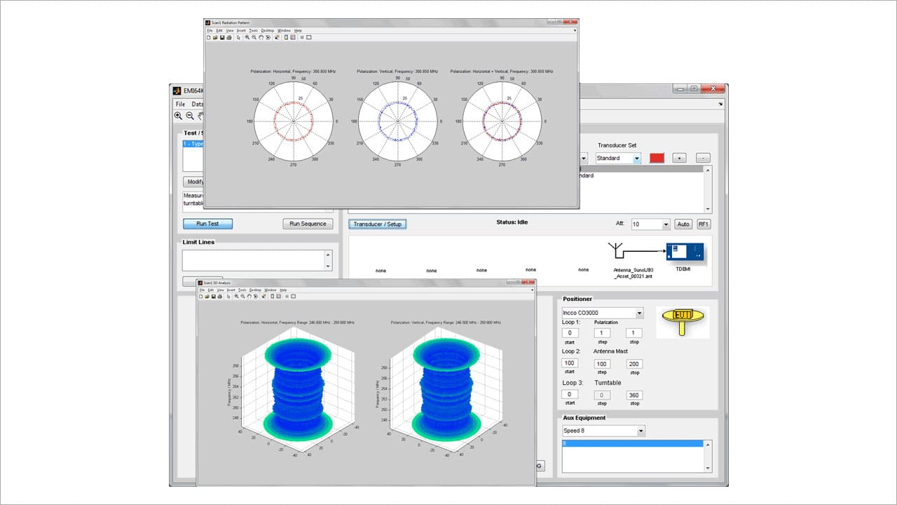Screenshot EMI 64k Software Suite - Rad Module presentation in 2D and 3D
