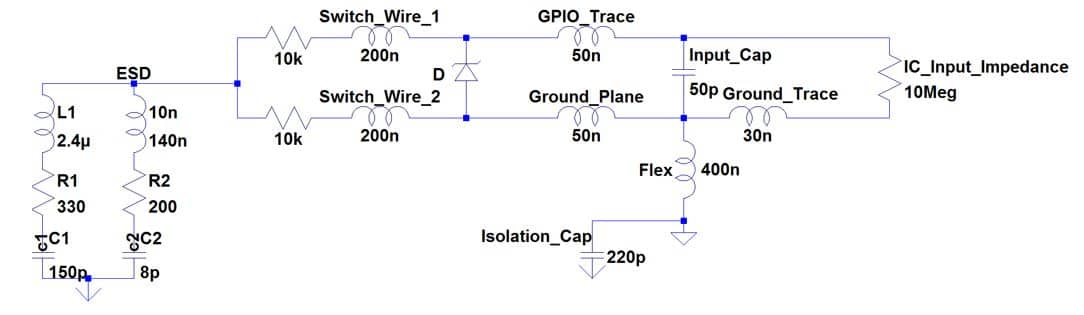 figure 4 – 10k resistor placed in series with the switch wires