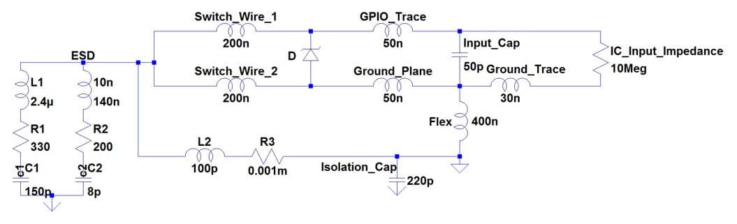 troubleshooting esd in floating medical grade circuits rh interferencetechnology com  esd push button wiring diagram