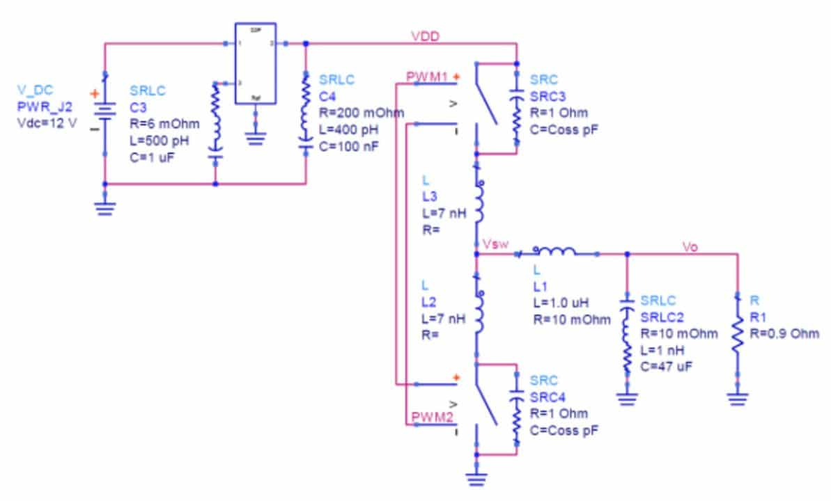 Top Three Emi And Power Integrity Problems With On Board Dc Boost Voltage Converter Ranging From 15 To Youtube A Simple For Illustration Of Plane Resonance The Fet Switches Include Lead Inductance Drain Capacitance Coss