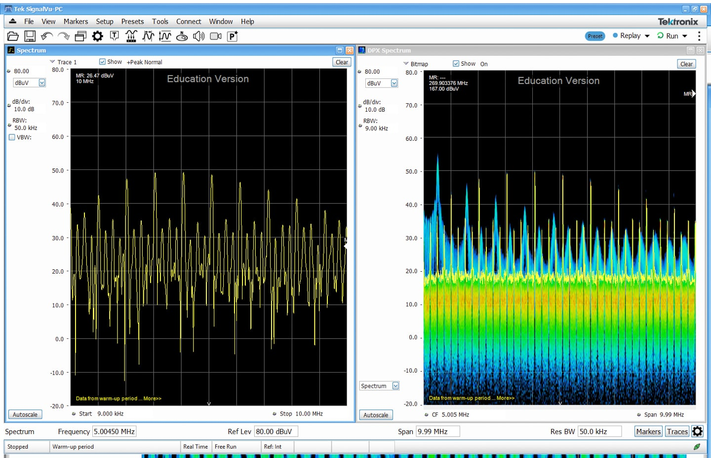 Emi Troubleshooting With Real Time Spectrum Analyzers Interference The Diagram Above Is Peak 3dbs Which Shows That Filter Figure 6 Again Without Moving Probe We See Mode 3 Much Increased Narrow Band Emissions Measuring About 10 Db Higher Than Modes 1 And 2